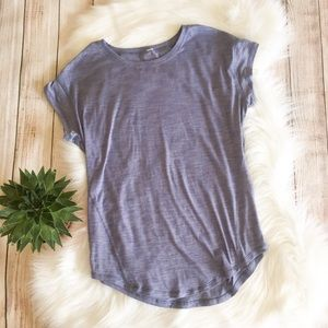 Lululemon | Heathered Blue Short Sleeve Top